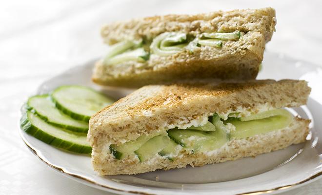 Cucumber Butter Tea Sandwich