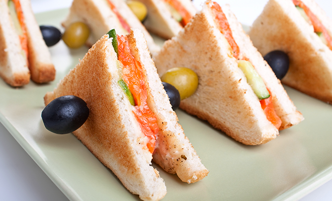 Salmon Cream Cheese Tea Sandwich