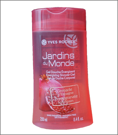 Yves Rocher Jardins Du Monde Energizing Shower Gel Pomegranate