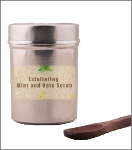 Tjori Exfoliating Mint and Oats Scrub