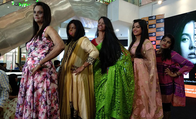 acid attack victims on the ramp