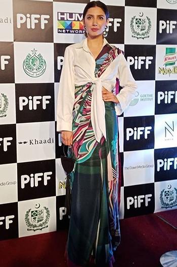 Mahira Khan saree