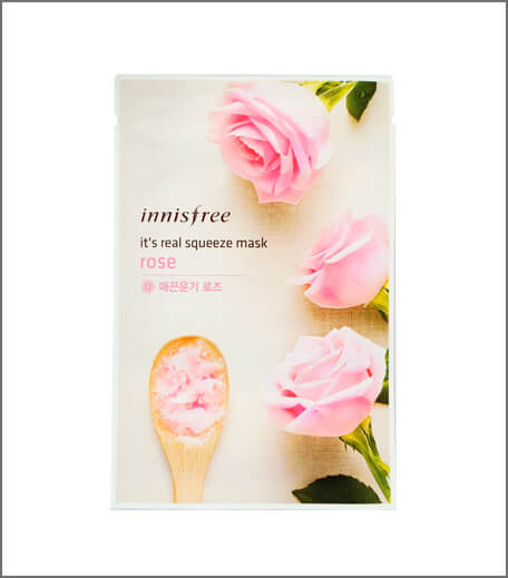 Innisfree It's Real Squeeze Mask - Rose