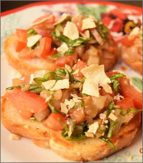 inpost - food - fusion recepies - papad bruschetta