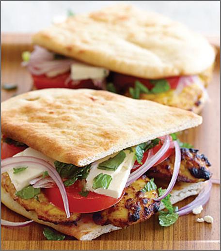 inpost - food - fusion recepies -tandoori naan sandwiches