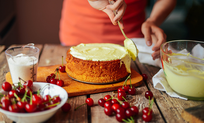 Bake a cake together