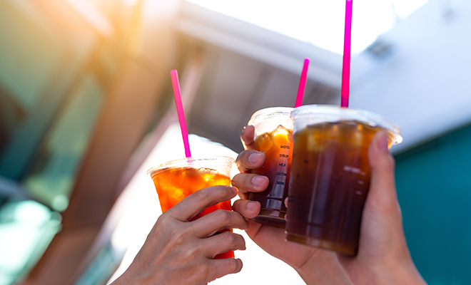 Exposure to tea coffee wine which stains the teeth