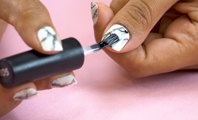 Inpost (H)- DIY Marble Nail Art 5
