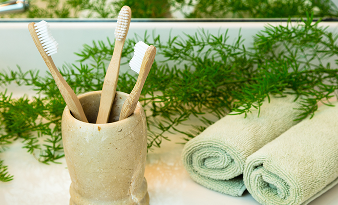 Use a bamboo toothbrush