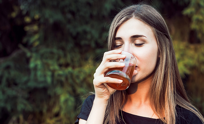 Use apply cider vinegar twice a week and swish it around your mouth