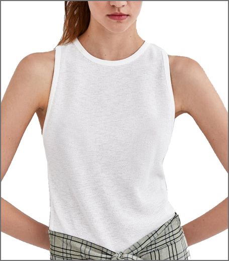 Zara Textured Sleeveless Top