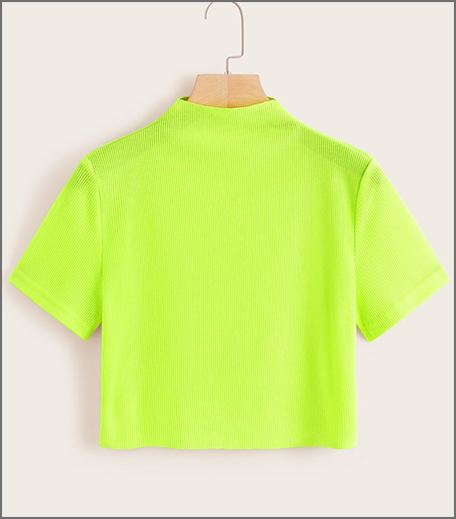 Hauterfly neon crop top