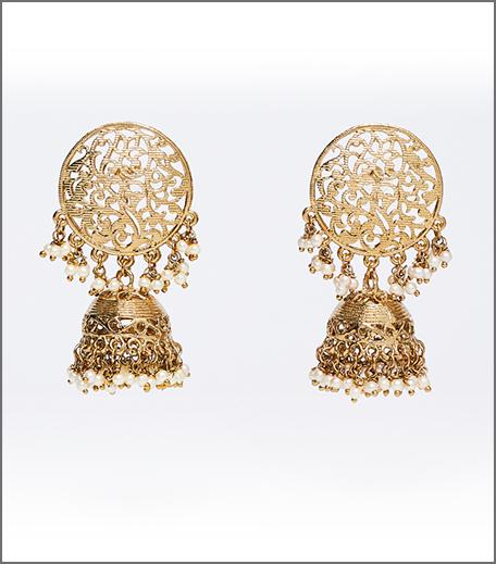 Hauterfly Gold Jhumkas