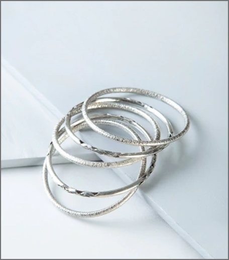 Hauterfly Silver Bangles