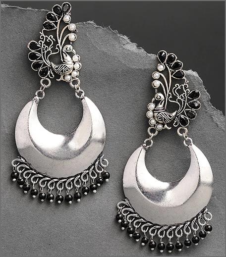 Hauterfly Chandbalis Durga Ouja 2019 Oxidised Silver