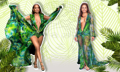 Hauterfly Jennifer Lopez Versace Tropical Dress
