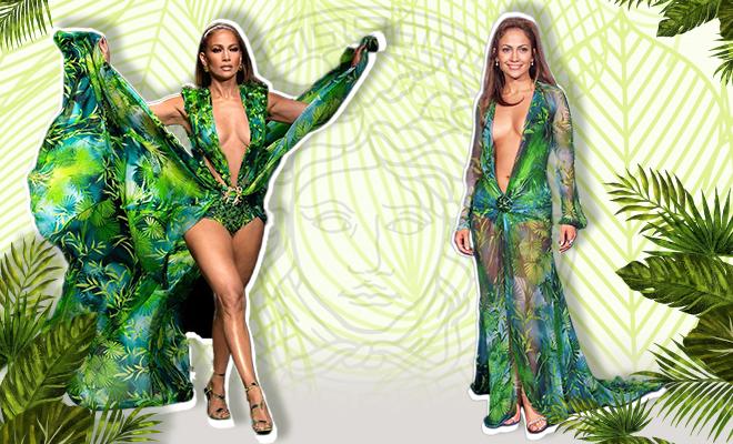 Hauterfly Jennifer Lopez Versace Tropical Dress