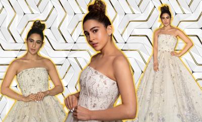 Sara Ali Khan White Gown IIFA 2019