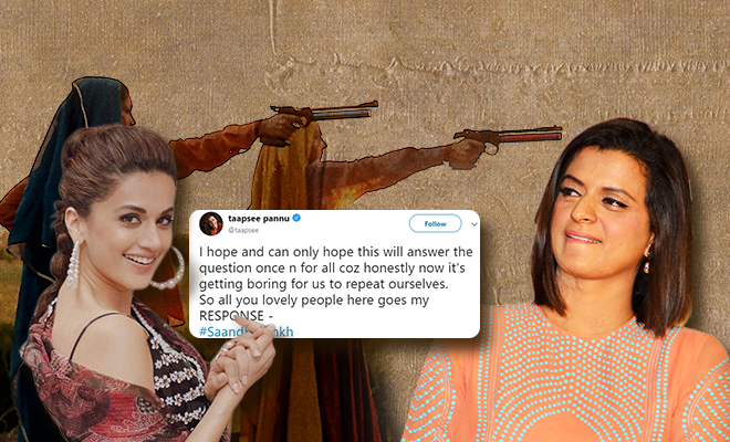 Taapsee-pannu's-reply-to-rangoli-chandel-about-saand-ki-aankh-660-400-hauterfly