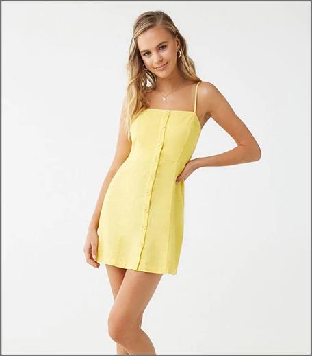 Hauterfly Yellow Bodycon Dress