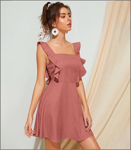 Hauterfly Ruffled Dress