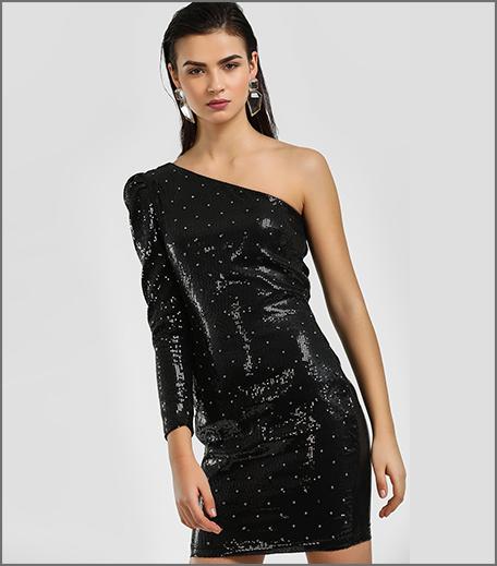 Hauterfly Black One Shoulder dress