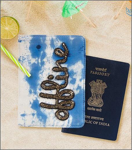 Offline Beaded Passport Cover