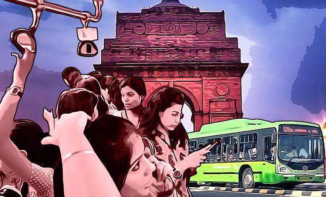 Free-ride bus Delhi