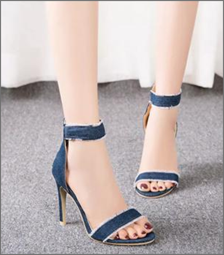 Hauterfly denim heels