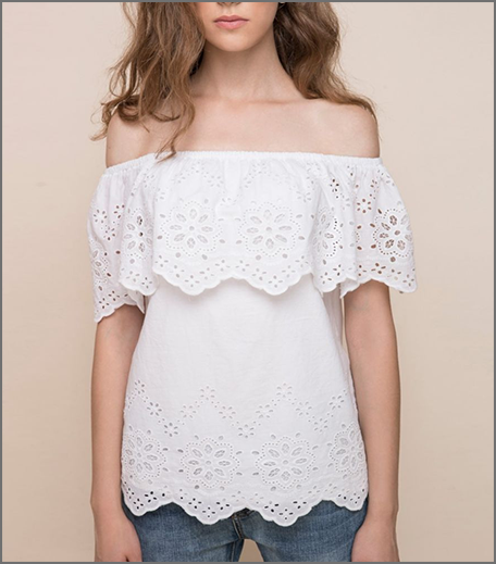 Hauterfly Cover Story Eyelet Top