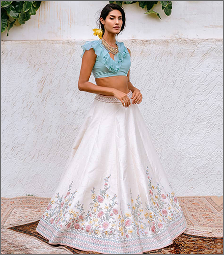 Hauterfly White Lehenga Anushree Reddy