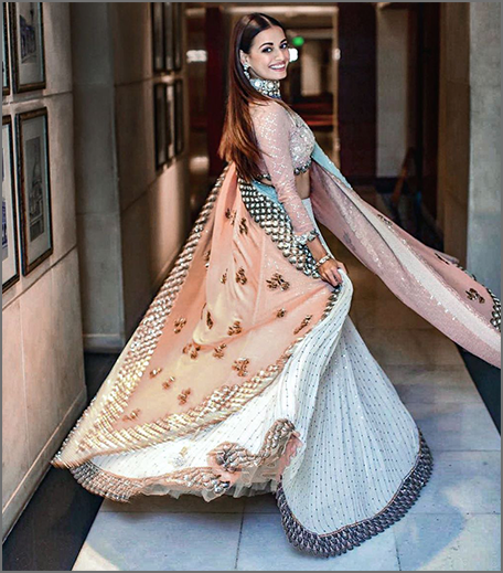 Hauterfly White Lehenga House of Kotwara