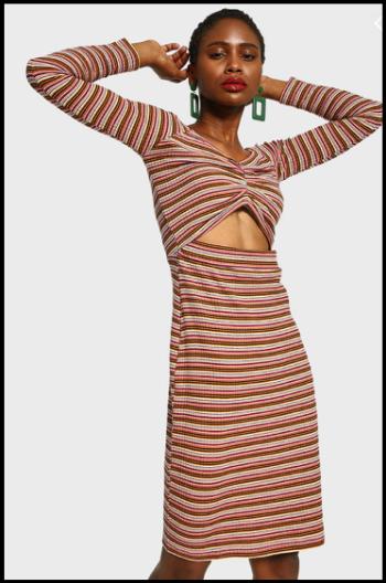 Hauterfly Striped Dress
