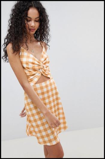 Hauterfly Tie Front Dress