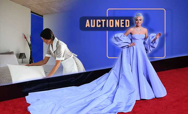 Hauterfly Lady Gaga Golden Globes Dress