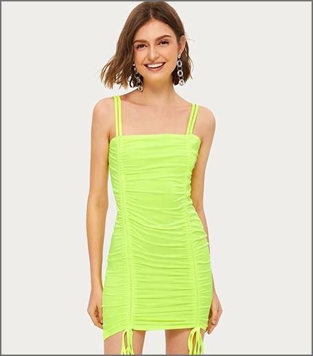 Hauterfly Ananya Panday Party Dresses Neon Bodycon