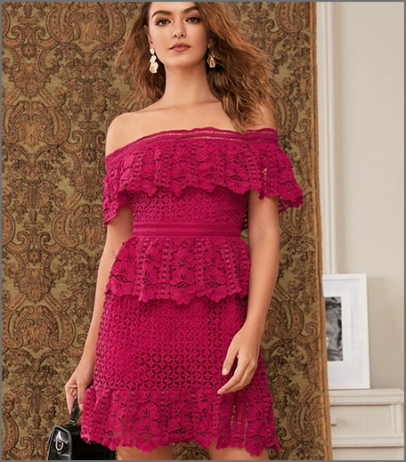 Hauterfly Party Dresses Hot Pink Overlay