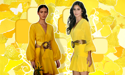 Hauterfly Katrina Kaif SILVIA TCHERASSI yellow dress