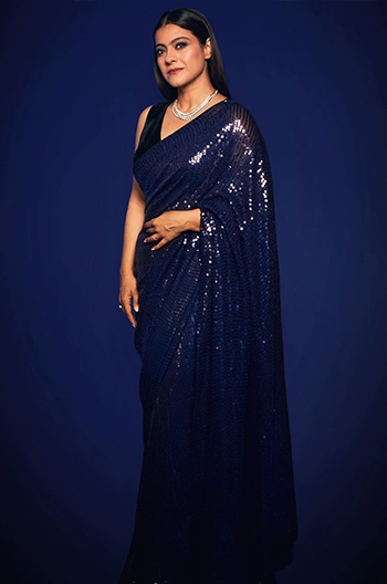 Hauterfly Kajol Devgan Manish Malhotra sequinned saree