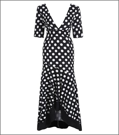 Hauterfly Polka Dot Dress Black