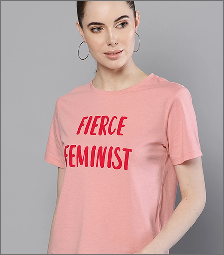 Hauterfly Feminist Tees Pink