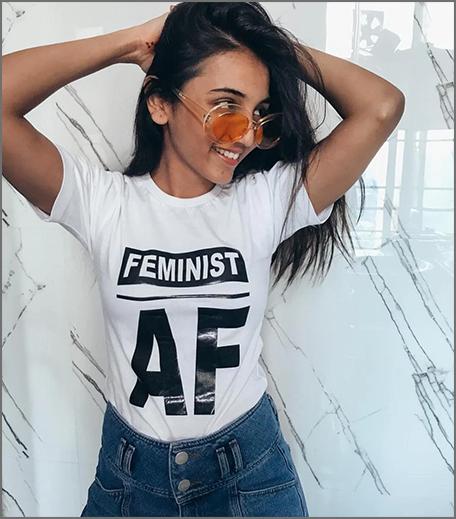Hauterfly Feminist Tee White