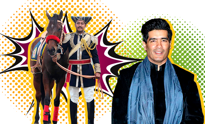 Manish Malhotra Mumbai Mounted Police Uniform