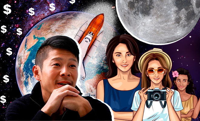 Japanese-billionaire-seeks-girlfriend-for-Moon-voyage-on-SpaceX-rocket-660-400-hauterfly