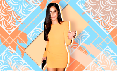 Hauterfly Katrina Kaif Alex Perry Orange Dress