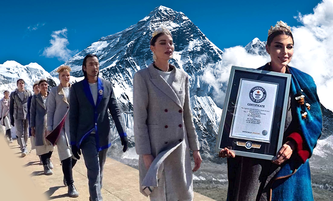 Hauterfly High Altitude Nepal Fashion Show