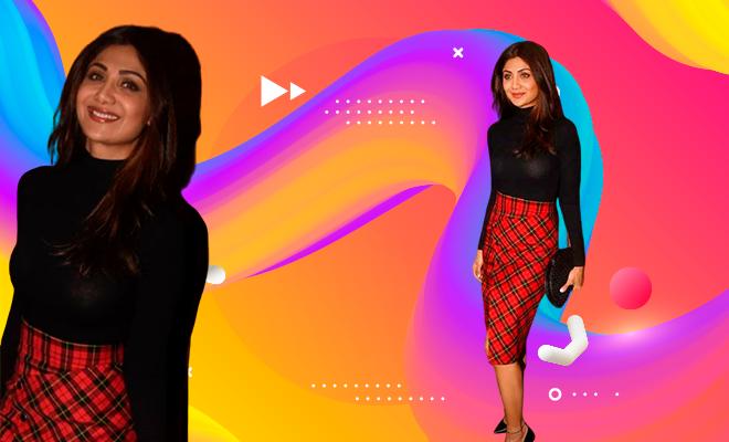 Hauterfly Shilpa Shetty Kundra Plaid Skirt