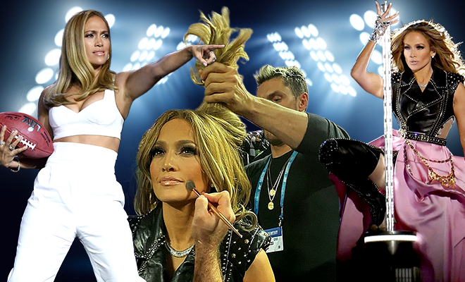 Jennifer Lopez Super Bowl Halftime Beauty Look 660 400 hauterfly
