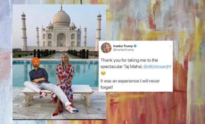 Diljit Dosanjh Photoshopped Himself Into Ivanka Trump S Picture At The Taj Mahal His Man Child Antics Are Getting Annoying Hauterfly