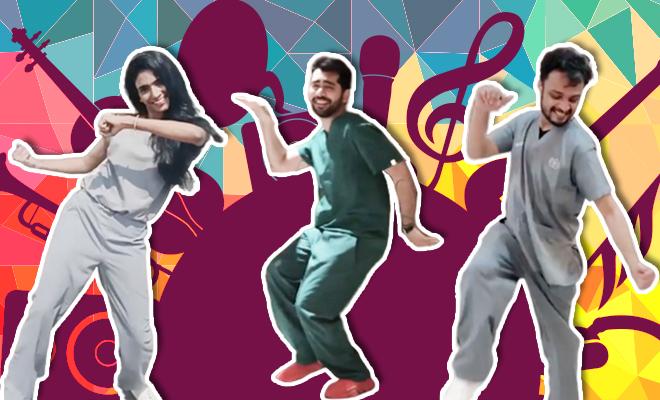FI Indian Doctors Dance To Happy